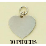 Making Memories - With Love Collection - Charms - Heart - Silver