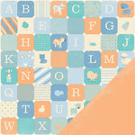 Making Memories - Pitter Patter Collection - 12 x 12 Double Sided Paper - Oliver Alphabet, CLEARANCE