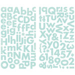 Making Memories - Pitter Patter Collection - Chipboard Stickers - Oliver Alphabet, BRAND NEW