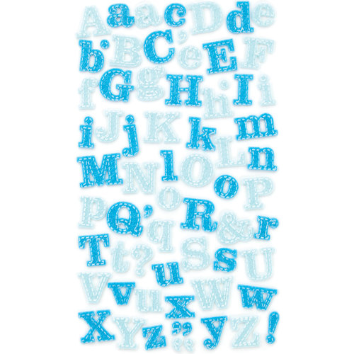 Making Memories - Pitter Patter Collection - Stitched Felt Stickers - Oliver Alphabet, CLEARANCE