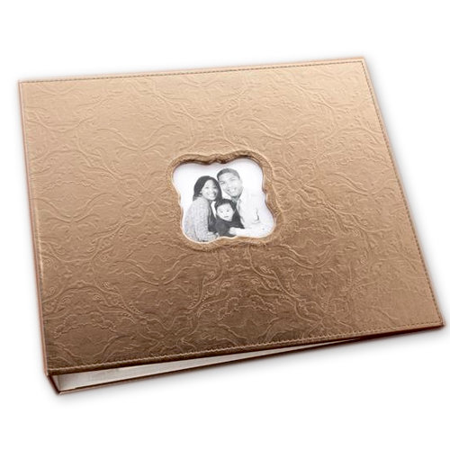 Making Memories - 12 x 12 Embossed Leather Album - 3-Ring - Bronze