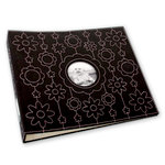 Making Memories - 12 x 12 Stitched Canvas Album - 3-Ring - Black and Pink