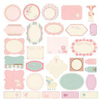 Making Memories - Pitter Patter Collection - Journaling Die Cut Pieces - Sophie, CLEARANCE