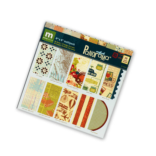 Making Memories - Panorama Collection - 8 x 8 Specialty Paper Pack