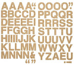 Making Memories - Panorama Collection - Corrugated Alphabet Stickers - Brown