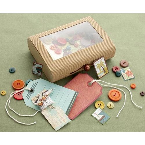 Making Memories - Panorama Collection - Embellishment Kit - Treasure Box