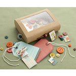 Making Memories - Panorama Collection - Embellishment Kit - Treasure Box