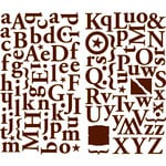 Making Memories - Noel Collection - Christmas - Shimmer Alphabet Stickers - Brown, CLEARANCE