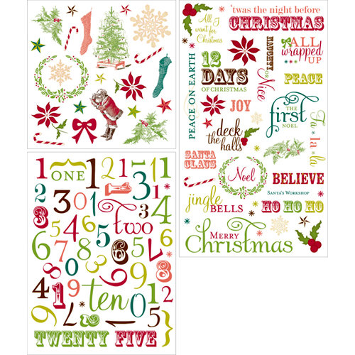 Making Memories - Noel Collection - Christmas - Rub Ons - Advent Calendar
