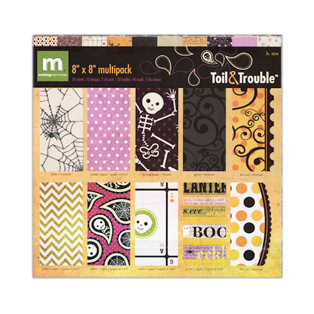 Making Memories - Toil and Trouble Collection - Halloween - 8 x 8 Specialty Paper Pack, BRAND NEW - click to enlarge