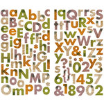 Making Memories - Toil and Trouble Collection - Halloween - Cardstock Stickers - Alphabet