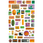 Making Memories - Toil and Trouble Collection - Halloween - Glitter Epoxy Stickers