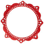 Making Memories - Glitter Bling Collection - Self Adhesive Circle Frame - Artisan Red