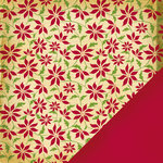 Making Memories - Noel Collection - Christmas - 12 x 12 Double Sided Paper - Poinsettia Ledger
