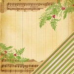 Making Memories - Noel Collection - Christmas - 12 x 12 Double Sided Paper - Music Note Ledger