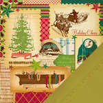 Making Memories - Noel Collection - Christmas - 12 x 12 Double Sided Paper - Christmas Collage