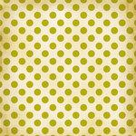 Making Memories - Noel Collection - Christmas - 12 x 12 Paper - Green Glitter Dot