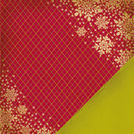Making Memories - Noel Collection - Christmas - 12 x 12 Double Sided Paper - Snowflake Argyle