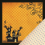 Making Memories - Toil and Trouble Collection - Halloween - 12 x 12 Double Sided Paper - Haunted House, CLEARANCE