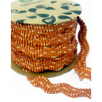 Making Memories - Toil and Trouble Collection - Halloween - Orange Ric Rac Spool - 25 Yards