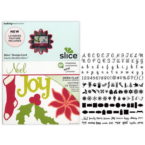 Making Memories - Slice Design Card - Noel