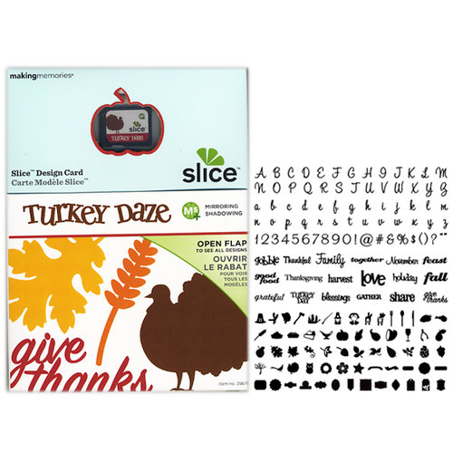 Making Memories - Slice Design Card - Turkey Daze