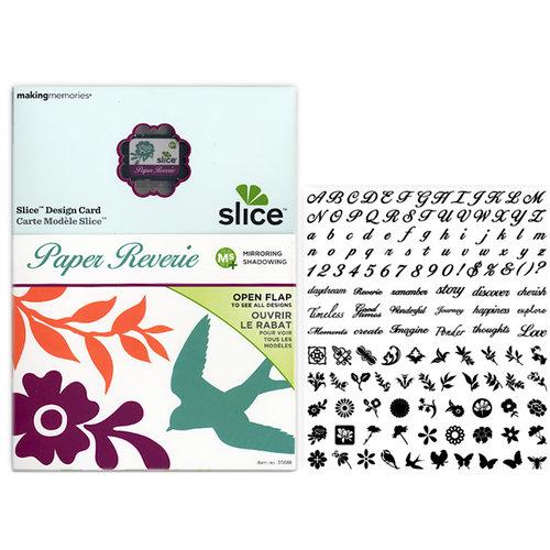 Making Memories - Slice Design Card - Paper Reverie