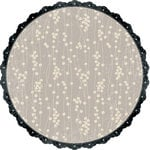 Making Memories - Paper Reverie Collection - 12 x 12 Glitter Die Cut Paper - Floral Vine Shimmer