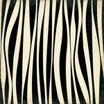 Making Memories - Paper Reverie Collection - 12 x 12 Glitter Paper - Zebra Shimmer