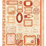 Making Memories - Paper Reverie Collection - Cardstock Stickers - Ephemera - Sienne