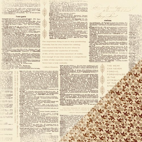 Making Memories - Paper Reverie Collection - 12 x 12 Double Sided Paper - Dictionary