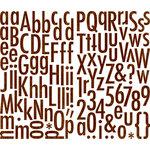 Making Memories - Paper Reverie Collection - Cardstock Stickers - Alphabet - Brun Antique