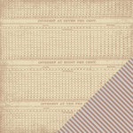 Making Memories - Paper Reverie Collection - 12 x 12 Metallic Double Sided Paper - Copper Ledger