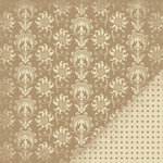 Making Memories - Paper Reverie Collection - 12 x 12 Metallic Double Sided Paper - Delicate Brocade