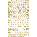 Making Memories - Paper Reverie Collection - Shimmer Alphabet Stickers - Metallique
