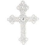 Making Memories - Glitter Bling Collection - Self Adhesive Icon - Cross