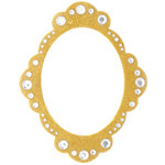 Making Memories - Glitter Bling Collection - Self Adhesive Oval Frame - Gold, CLEARANCE