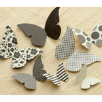 Making Memories - Paper Reverie Collection - Cardstock Pieces - Butterflies - Noir