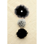 Making Memories - Paper Reverie Collection - Fabric Flowers - Florets - Noir