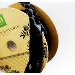 Making Memories - Paper Reverie Collection - Animal Print Ribbon Spool - Noir - 25 Yards