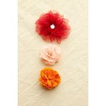 Making Memories - Paper Reverie Collection - Fabric Flowers - Florets - Sienne