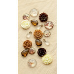 Making Memories - Paper Reverie Collection - Baubles - Brun Antique