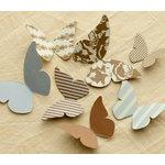 Making Memories - Paper Reverie Collection - Cardstock Pieces - Butterflies - Metallique