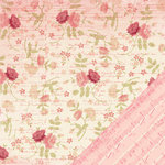 Making Memories - Je t'Adore Collection - Valentine - 12 x 12 Double Sided Paper - Floral Ledger