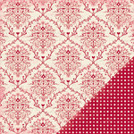 Making Memories - Je t'Adore Collection - Valentine - 12 x 12 Double Sided Paper - Tres Jolie Brocade