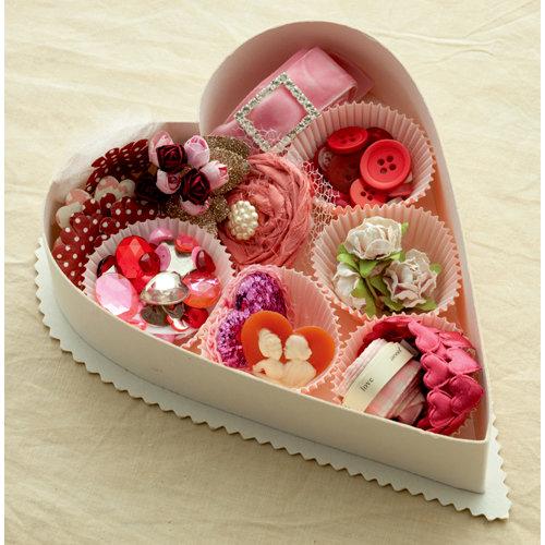 Making Memories - Je t'Adore Collection - Valentine - Embellishment Box - Tres Jolie