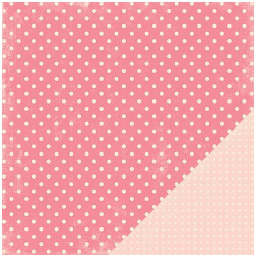 Making Memories - Je t'Adore Collection - Valentine - 12 x 12 Double Sided Paper - Pink Dots