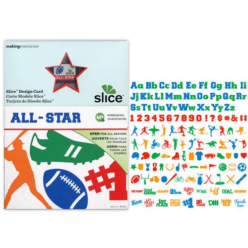 Making Memories - Slice Design Card - All-Star