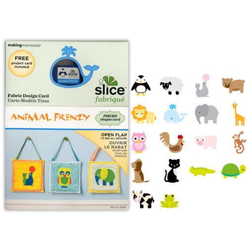 Making Memories - Fabrique Collection - Slice Design Card - Animal Frenzy