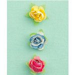 Making Memories - Dilly Dally Collection - Glitter Paper Flowers